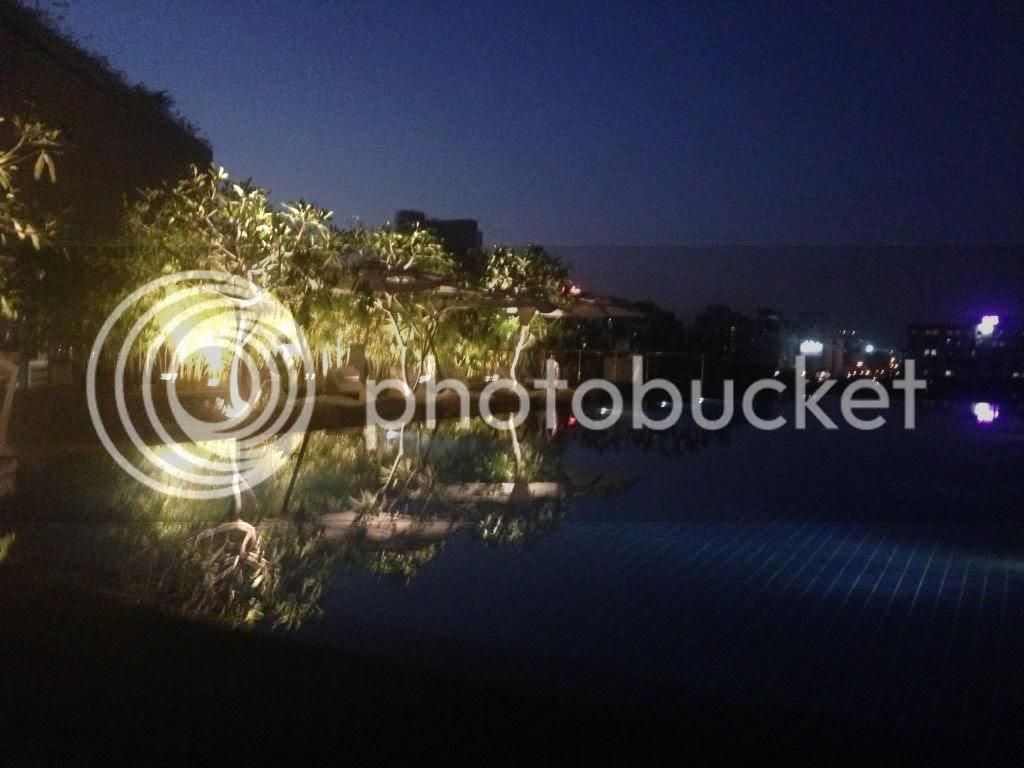 Westin Hotel Swimming Pool Night Pune India