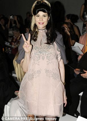 Kate Nash on the front row of the Bora Aksu Spring/Summer 2013 fashion show