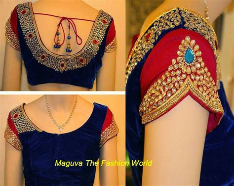 MODELS OF BLOUSE DESIGNS: PARTY FUNCTION VELVET SARI