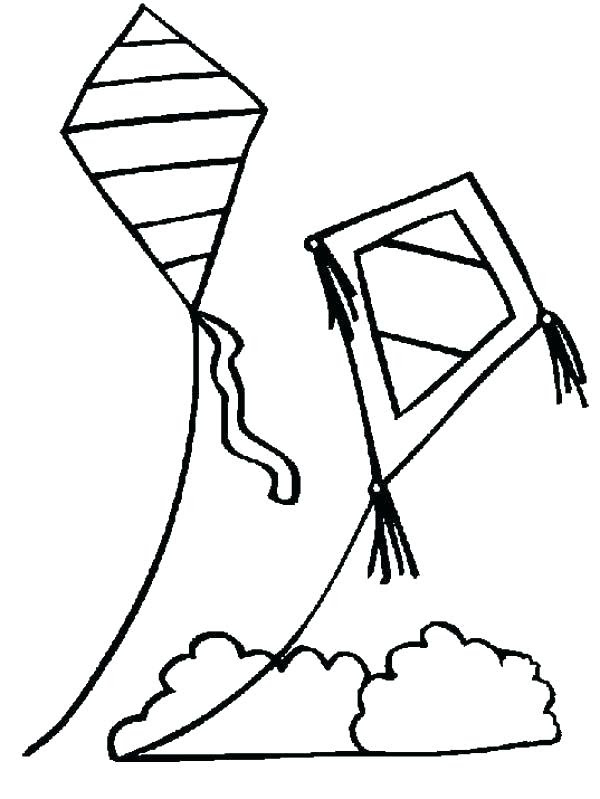 Kite Flying Drawing | Free download on ClipArtMag