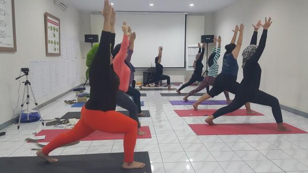 senang dan bersyukur sekali karena kami diterima oleh Ketua IBI  Pelatihan Prenatal Gentle Yoga di IBI Pusat JAKARTA