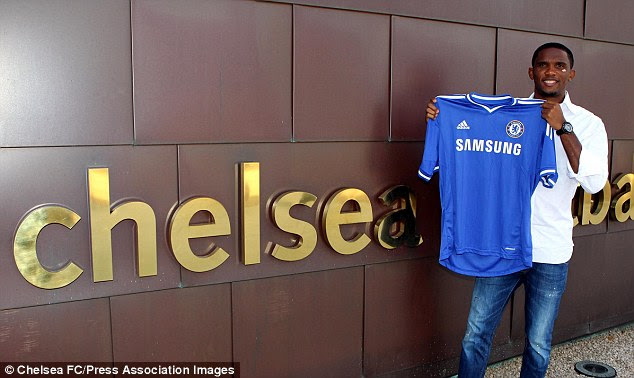 Pleased to be here: Eto'o has signed on a free transfer