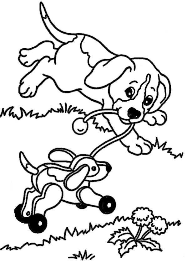 ausmalbilder hunde-6 | Ausmalbilder Malvorlagen