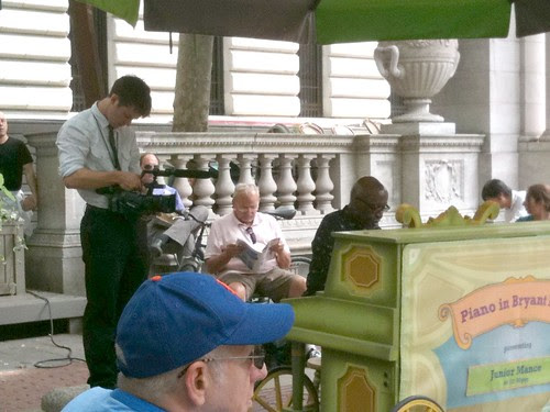 Jazz pianist Junior Mance in Bryant Park