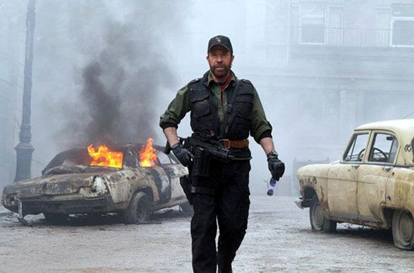 Chuck Norris shows why he's still da man in THE EXPENDABLES 2.