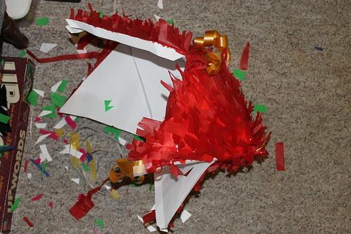 Spins & Needles Pinata Aftermath