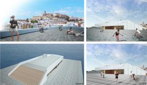 Un fotomontaje de cómo podría ser el edificio de  Es Martell. Aún así han recalcado que no es el proyecto final.