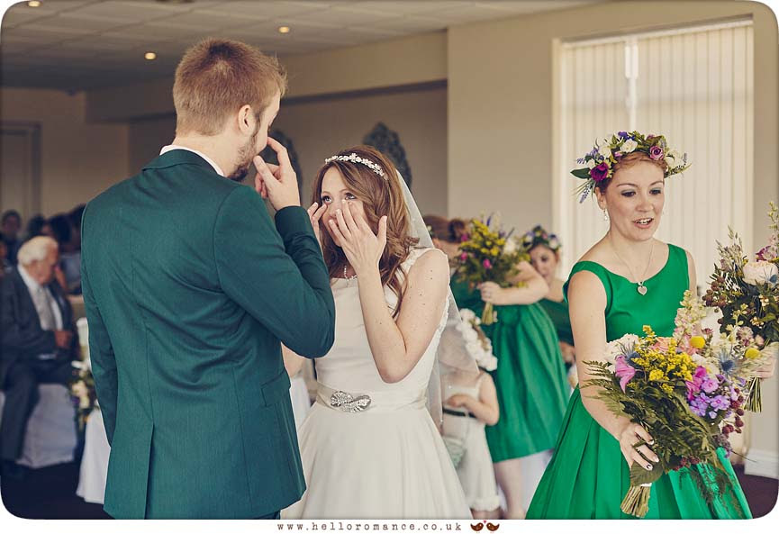 Tears at wedding - www.helloromance.co.uk