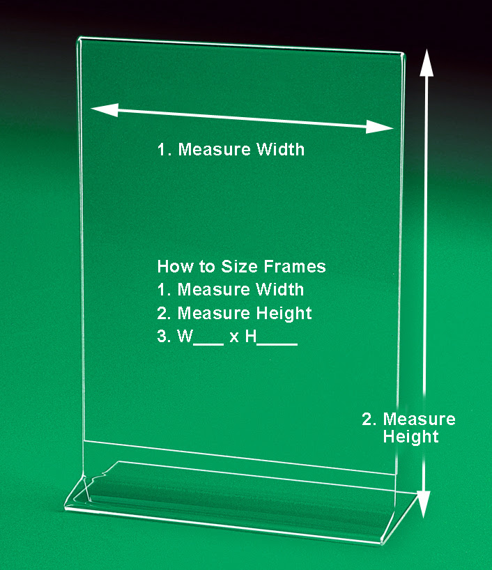 Side Loading Sign Holders And Frames Large Sizes Up To 8 X 10 To