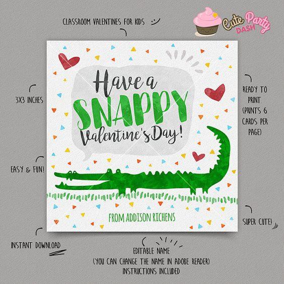 INSTANT DOWNLOAD - EDITABLE Valentine