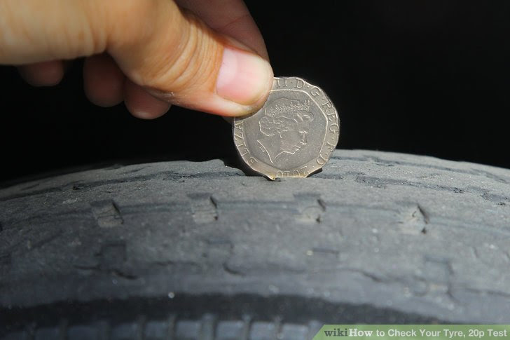 How To Check Your Tyre 20p Test 4 Steps With Pictures