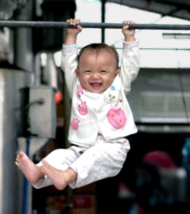 gymnast baby chinese kids exercise stretch sport work out training pull up