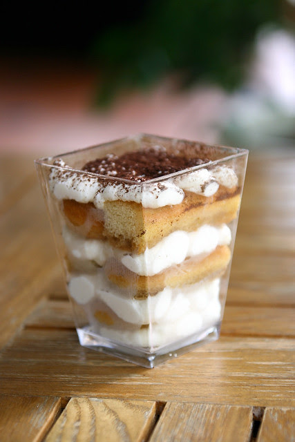 Eggless Tiramisu using espresso from the Bosch VeroBar