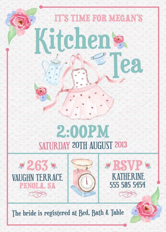 1000+ ideas about Kitchen Tea Invitations on Pinterest | High tea ...