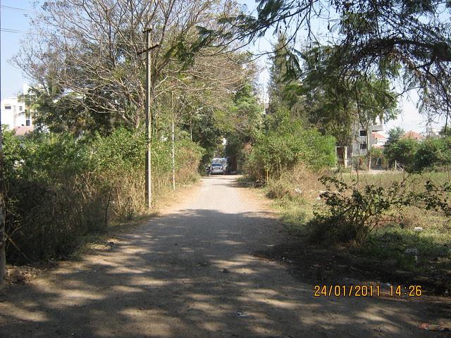 A lane of Paradigm Emerald & Alliance BelAir in Ram Indu Park Baner Pune 411 045