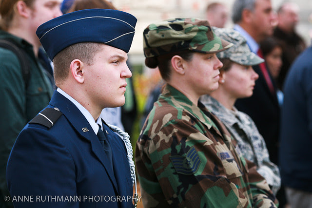 Honoring Veterans Flag Raising-07