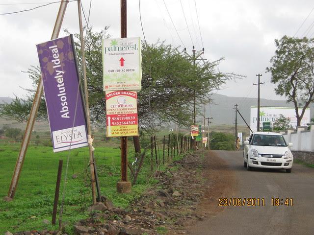 To Kingston Elysia, Wellness Club & Kumar Properties' Kumar Palmcrest, 2 BHK Flats, Katraj - Saswad Road, behind Savitiri Palace Mangal Karyalaya, Khadi Machine Chowk (Kondhwa Road) to Undri Chowk, Pisoli Gram Panchayat, Pune 411 028