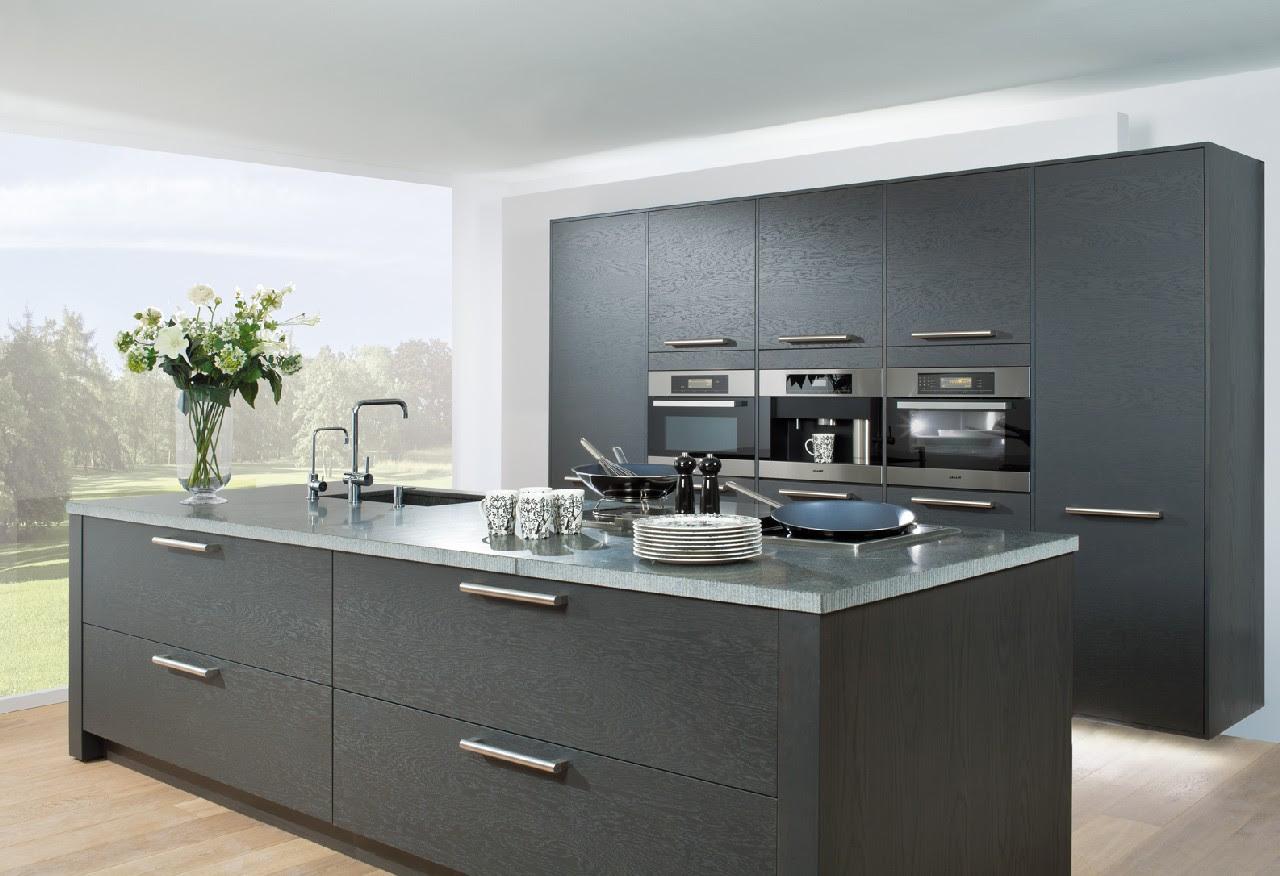 apartments design kitchen island dark wood light