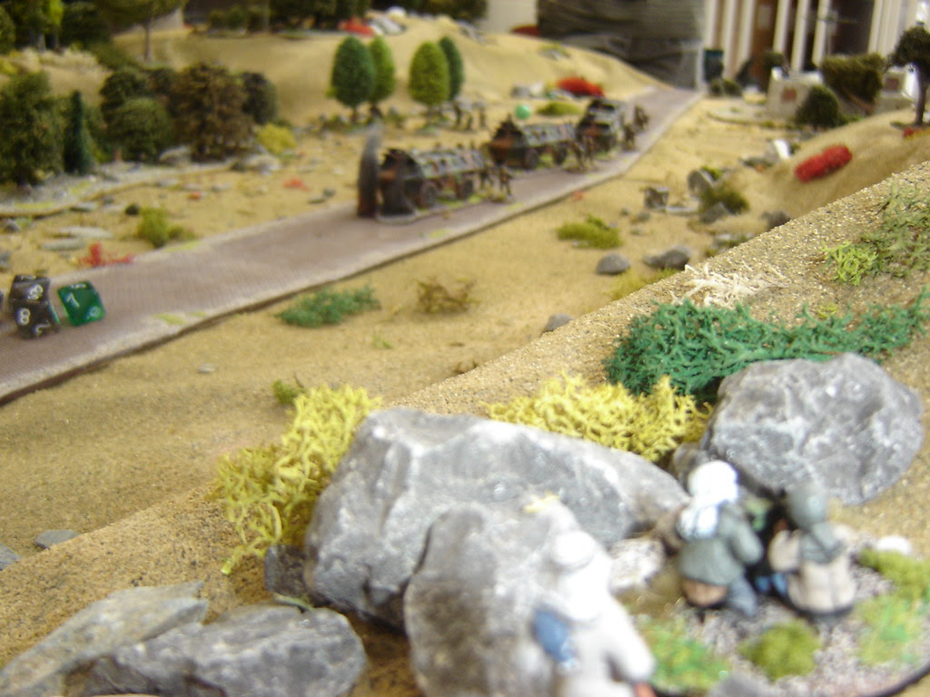 Heavy MG takes aim on French column