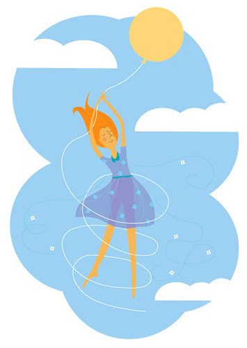 Illustration Friday - Float in sky