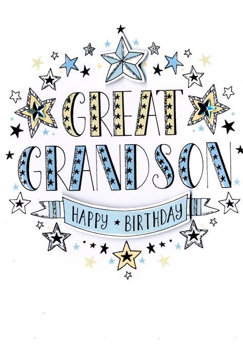 Great Grandson Birthday Greeting Card   Cards