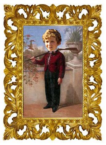 Felipe Juan Froilán de Marichalar y Borbón con Escopeta Inspirado en Niño con Escopeta de Valeriano Dominguez Bécquer