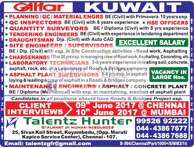 Galfar Kuwait Large Job Opportunities - AMERICAN WORKERS