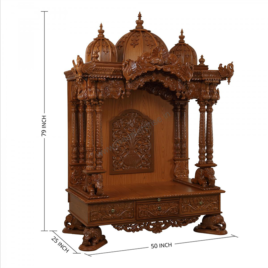 Wooden Temple For Home Wooden Mandir Usa Ma Enterprise