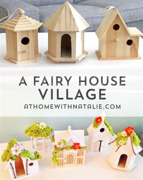 diy fairy house village tutorial  home  natalie