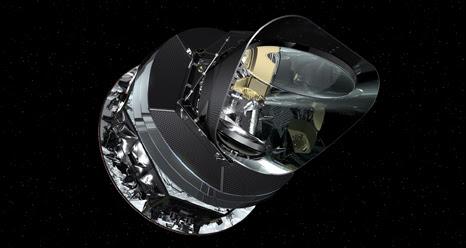 Este é o conceito de um artista da nave espacial Planck