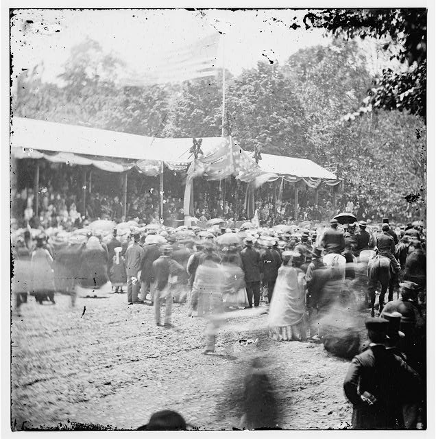 [Washington, D.C. Crowd in front of Presidential reviewing stand]