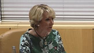 Aguirre a la comissió de corrupció de l'Assemblea de Madrid