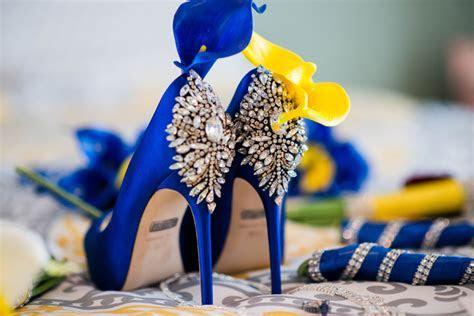Royal Blue and Yellow Wedding at Oak Grove Baptist Church.