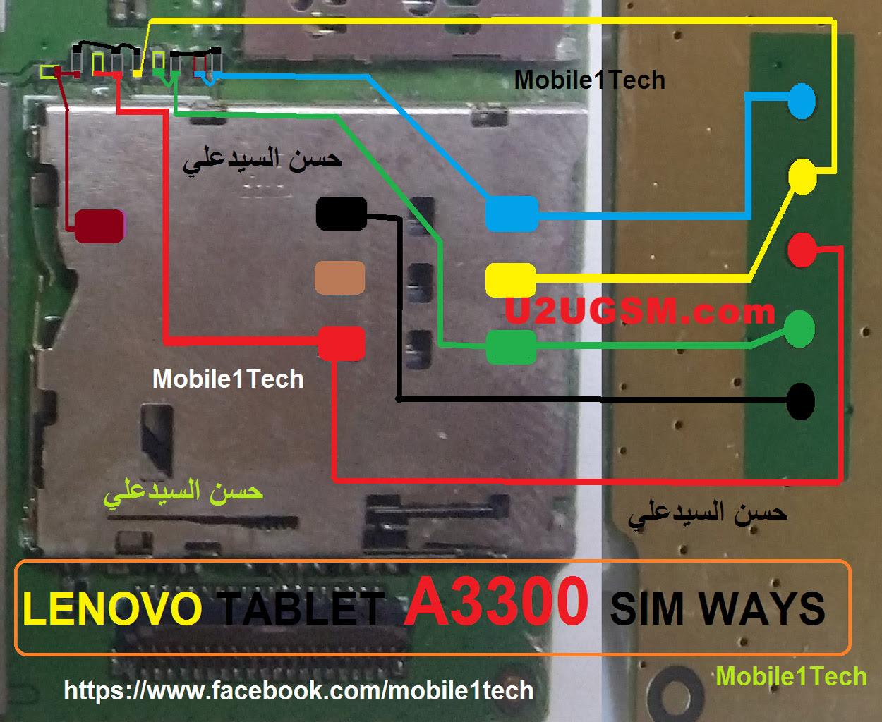 Lenovo Tab A3300 Insert Sim Card Problem Solution Jumper Ways