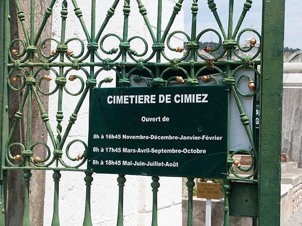 cimetière de Cimiez