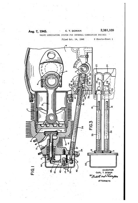 Patent US2381339 - Valve lubricating system for internal