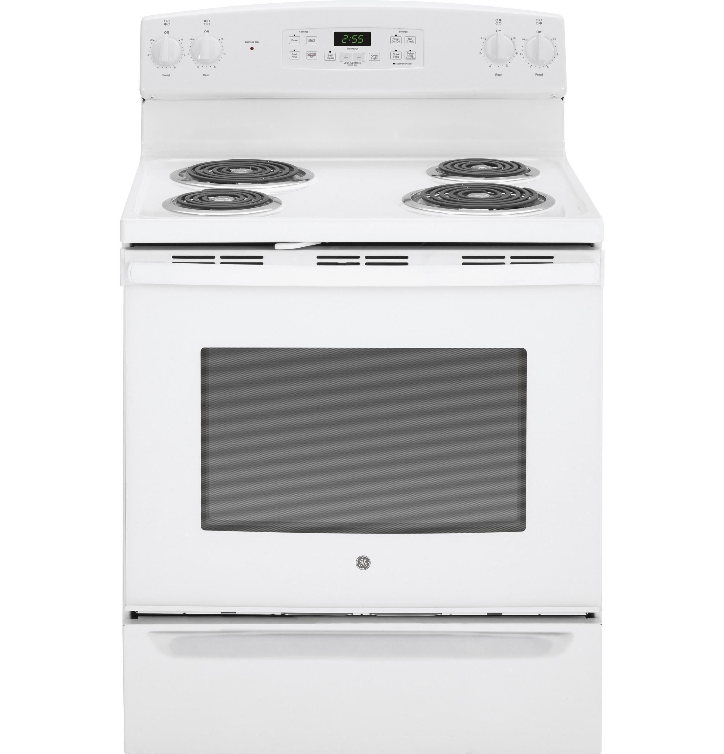 GE Appliances JB255DJWW 5 0 cu ft Freestanding Electric Range White