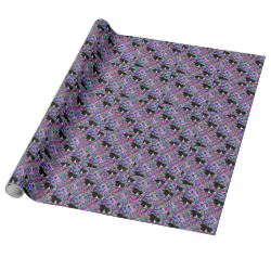 Freckles in Butterflies II - Tuxedo Cat Gift Wrapping Paper