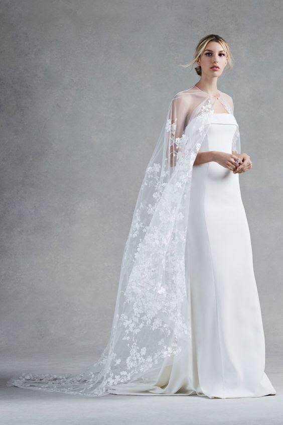 ethereal lace applique Kap ist ein minimalistisches brautkleid mehr weibliche