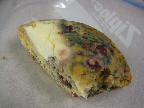 cream cheese, blueberry, raspberry scone Great Harvest