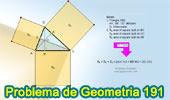 Problema de Geometría 191 (ESL): Triangulo, Cuadrados sobre los lados, Alturas, Ortocentro, Suma de Áreas.