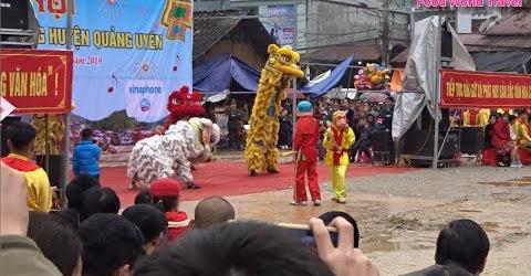 Pháo hoa Quảng Uyên thu hút đồng đảo du khách Lion dance 高桩舞狮表演