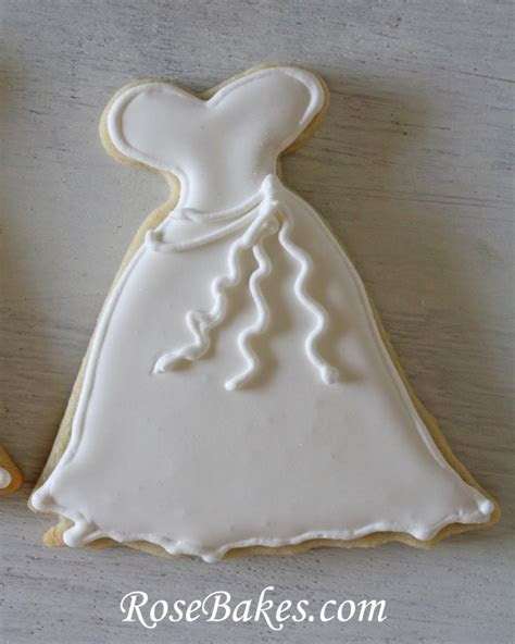 Wedding Dress Cookies   Roll Out Sugar Cookie Recipe