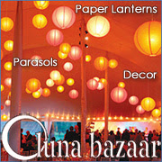 Paper Lanterns from Luna Bazaar