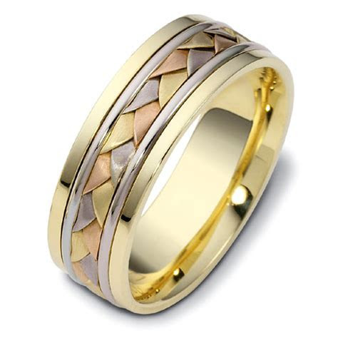 Men's Braided Two Tone Gold Band #296   Seattle Bellevue
