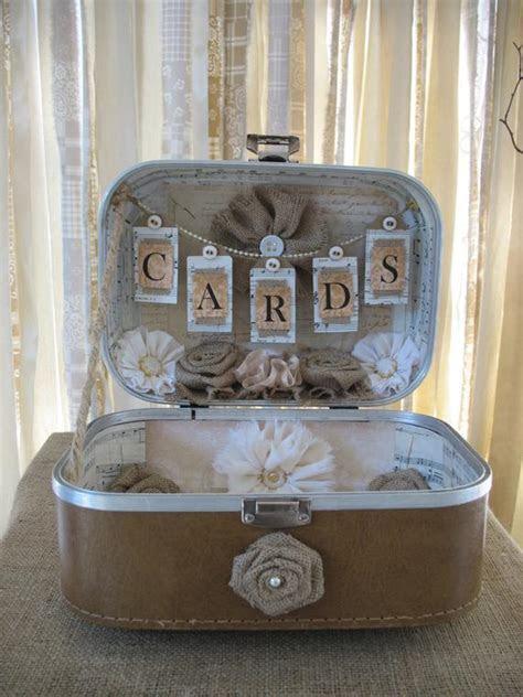 Card Box Vintage Suitcase Wedding Card Holder Shabby Chic