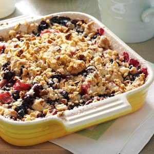Rhubarb-Blueberry Crumble Recipe