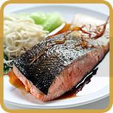 Salmon with Noodle and Soy Ginger Sauce