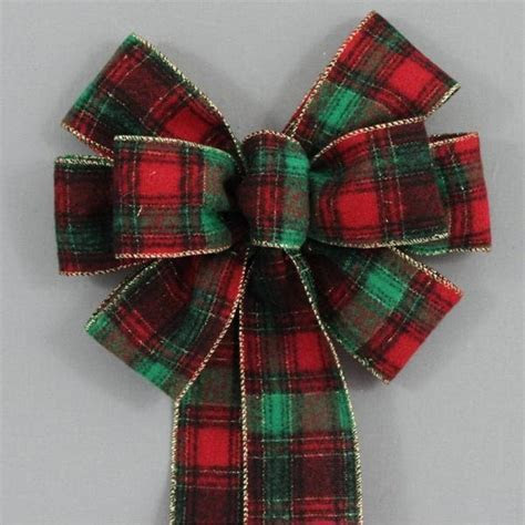 Country Flannel Plaid Christmas Bow   2 sizes   Package