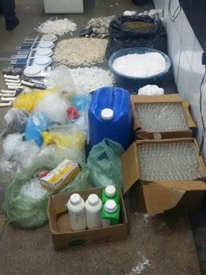 Drogas foram apreendidas em Guarujá (Foto: Divulgação/Polícia Militar)
